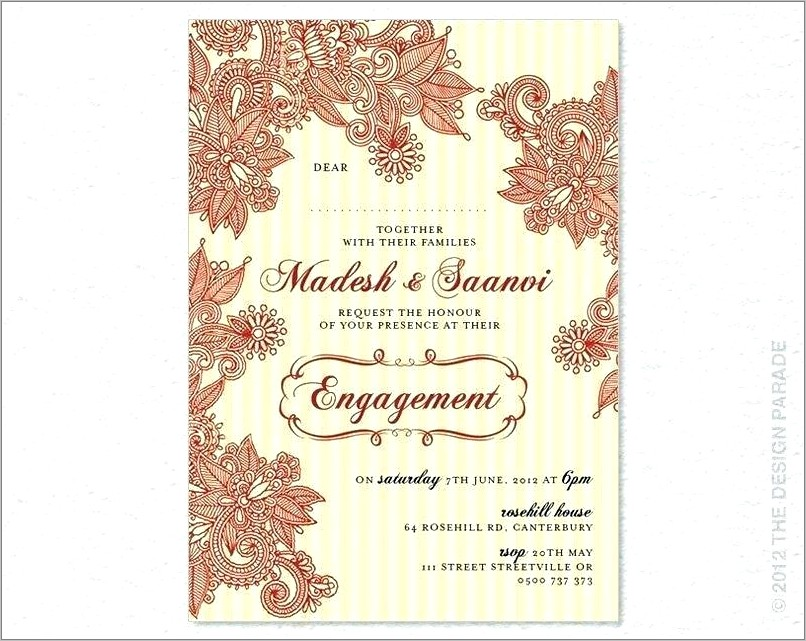 Indian Engagement Invitations Templates