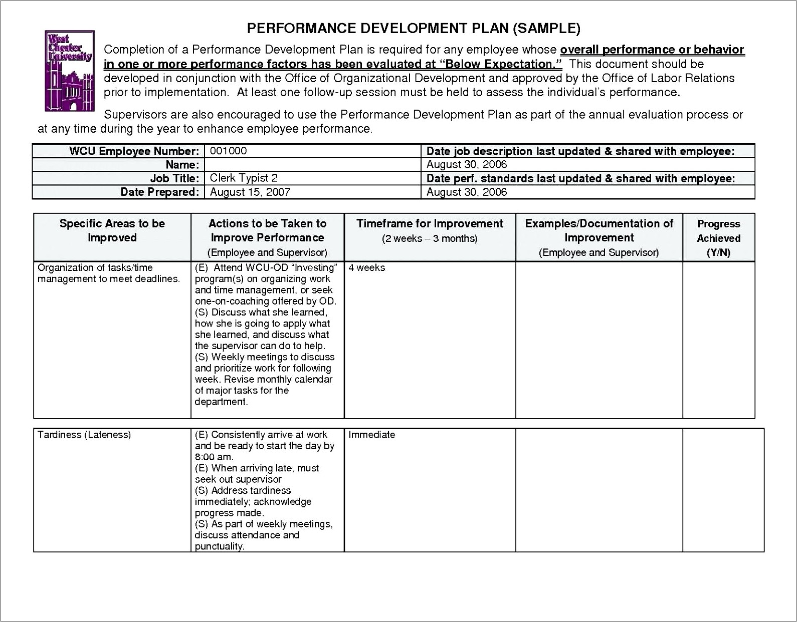 Individual Development Plan Examples For Senior Managers