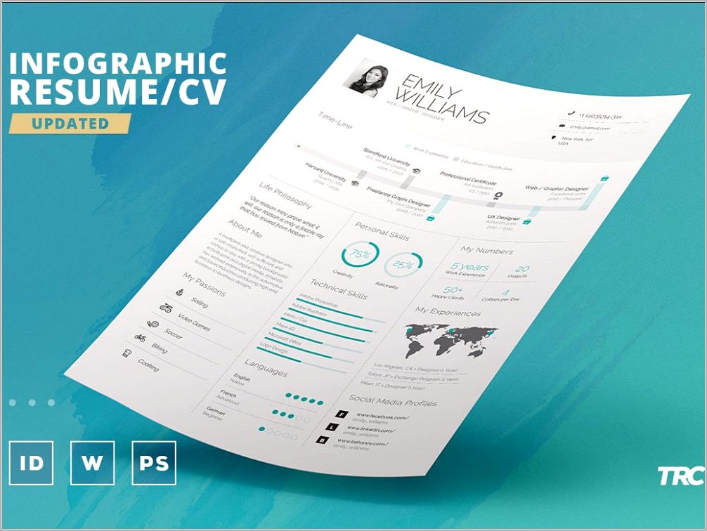 Infographic Cv Template Free Download