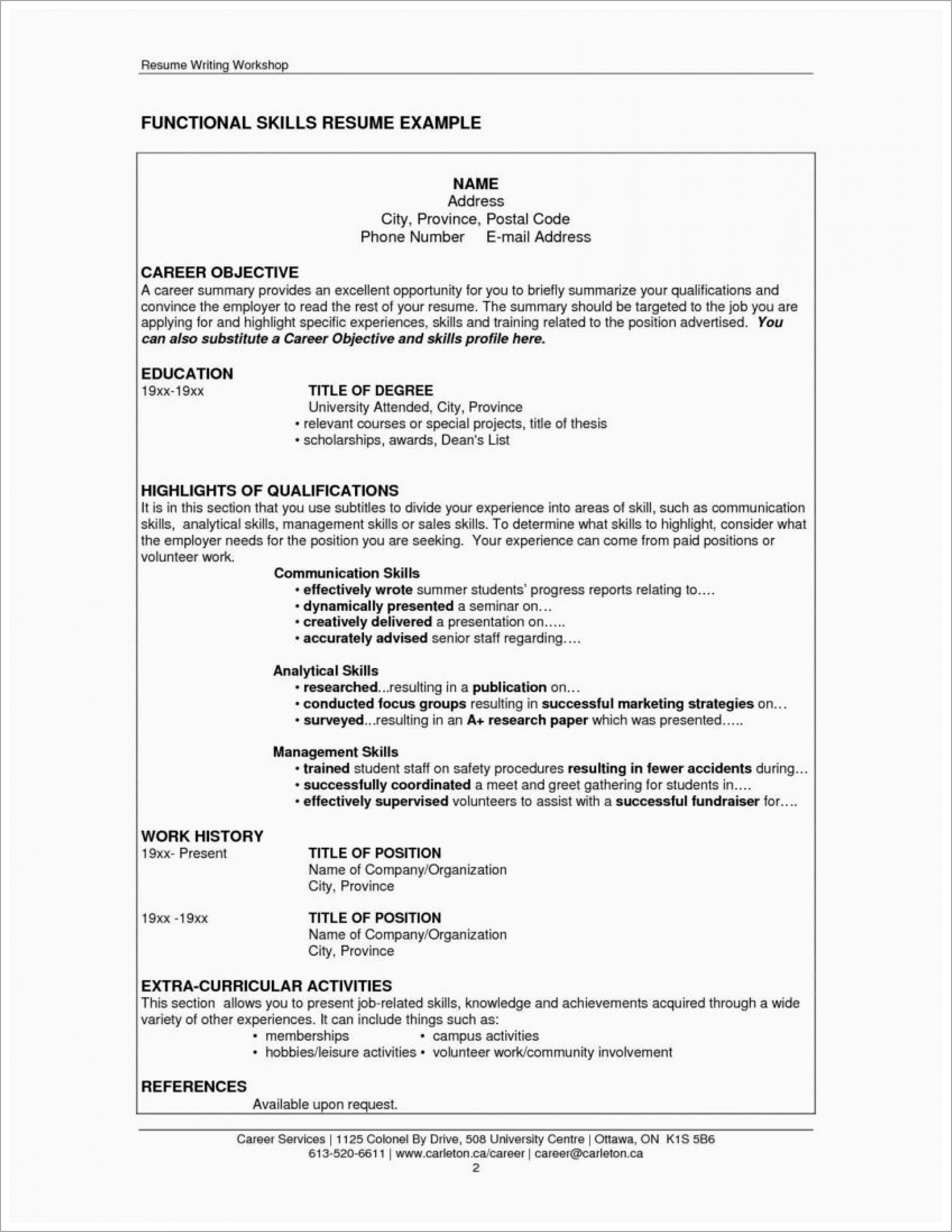 Information Technology Resume Templates Word
