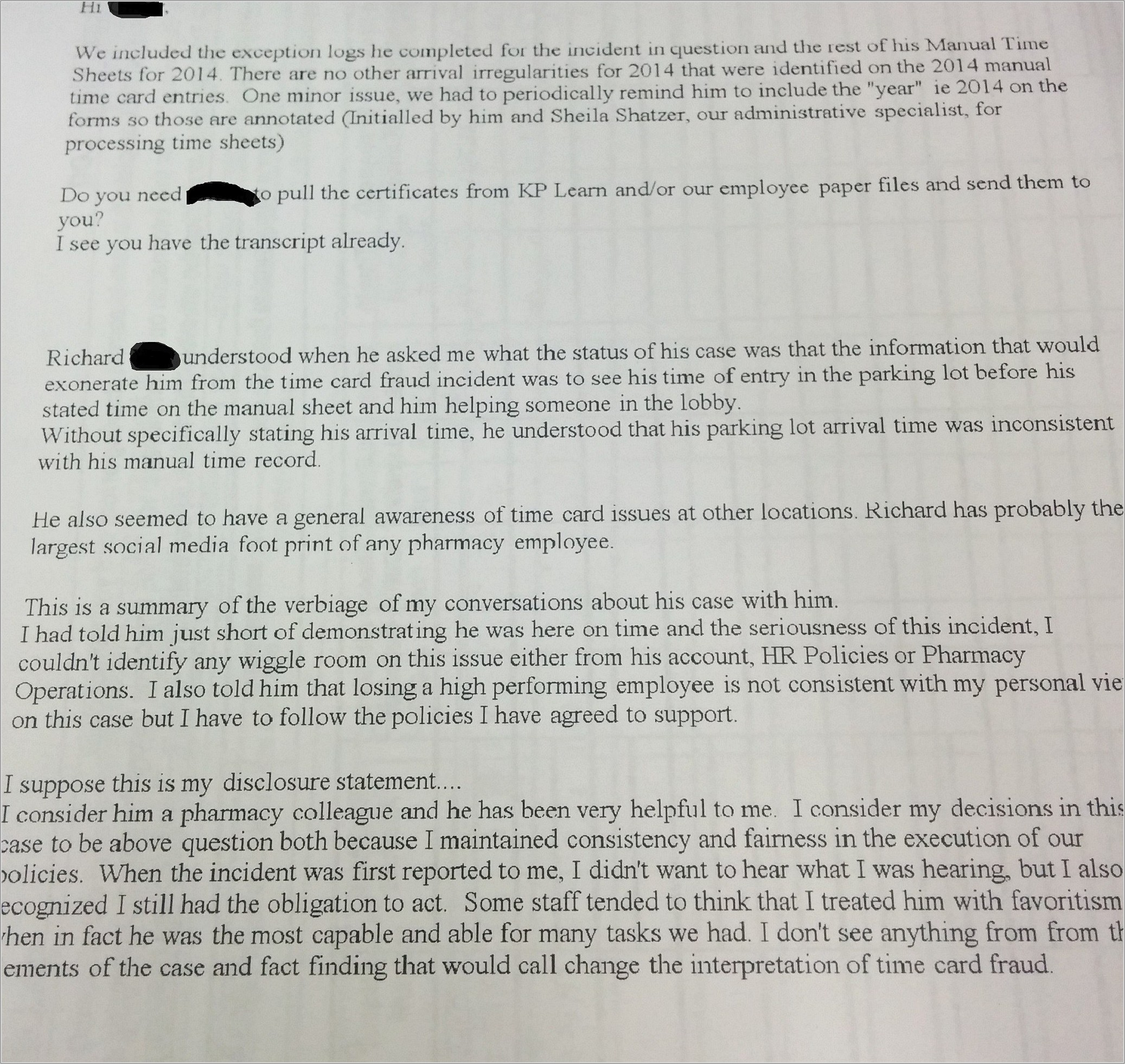 Insurance Appeal Letter Example