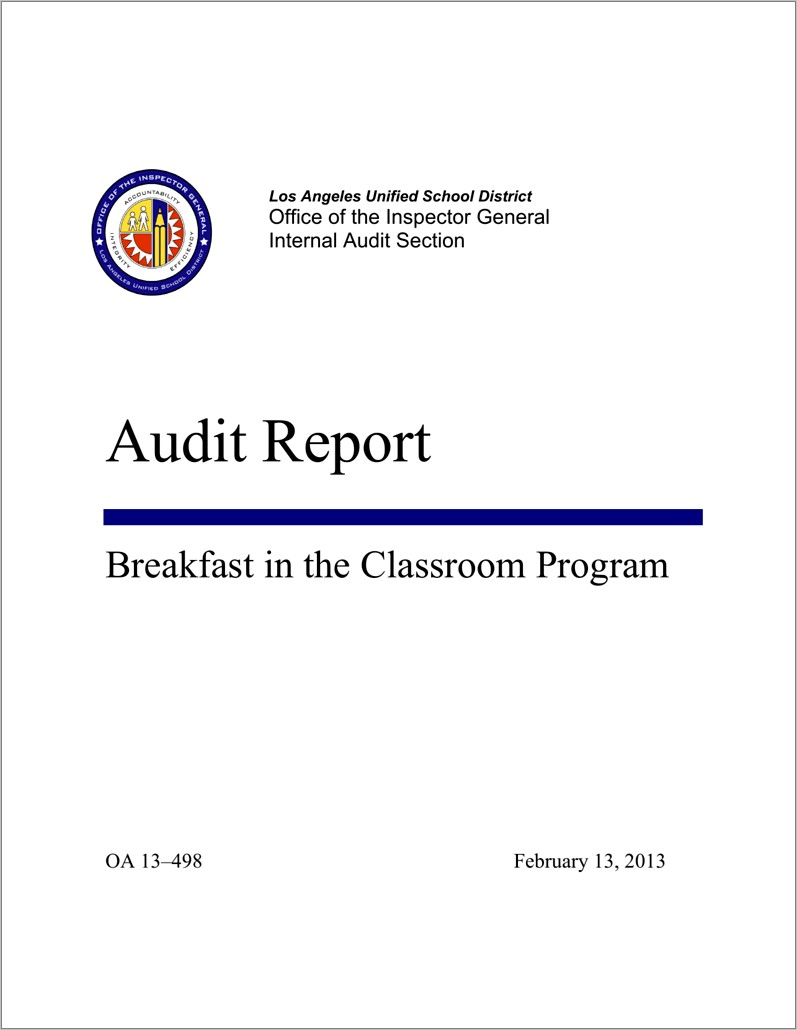 Internal Audit Report Template Iso 9001