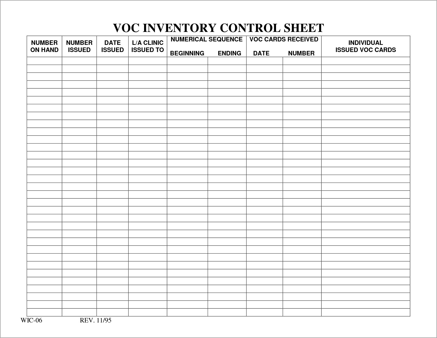 Inventory Management Spreadsheet Template Free