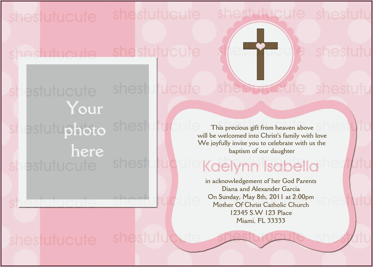 Invitation Cards Designs For Baptism