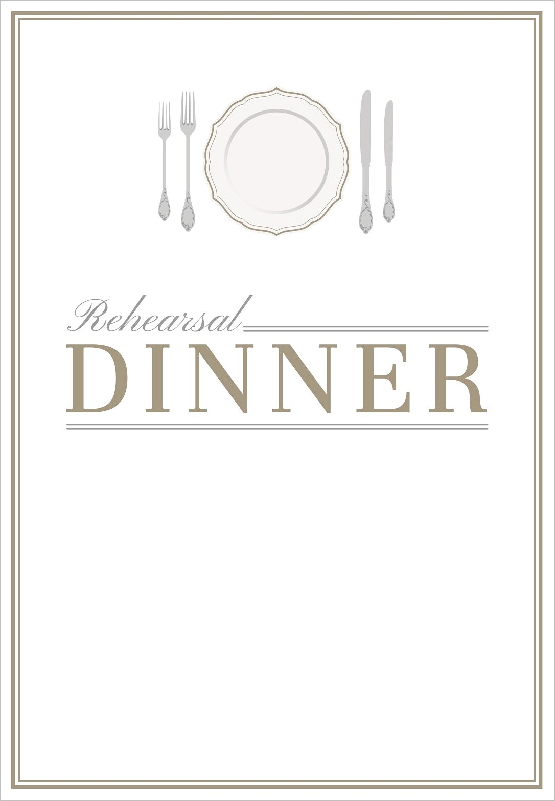 Invitation To Dinner Template Free