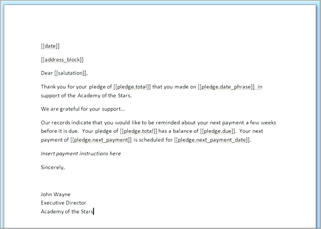 Invoice Due Reminder Template
