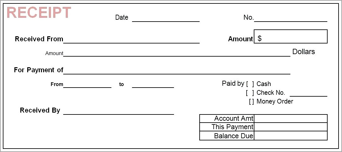 Invoice Payment Receipt Template