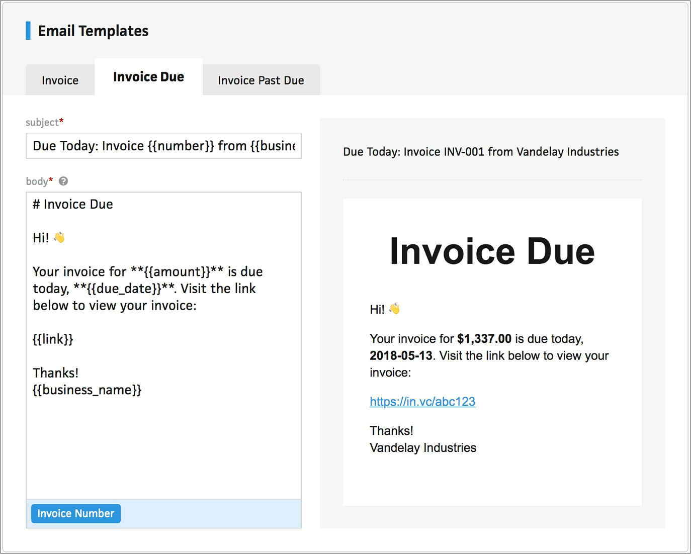 Invoice Payment Reminder Email Template
