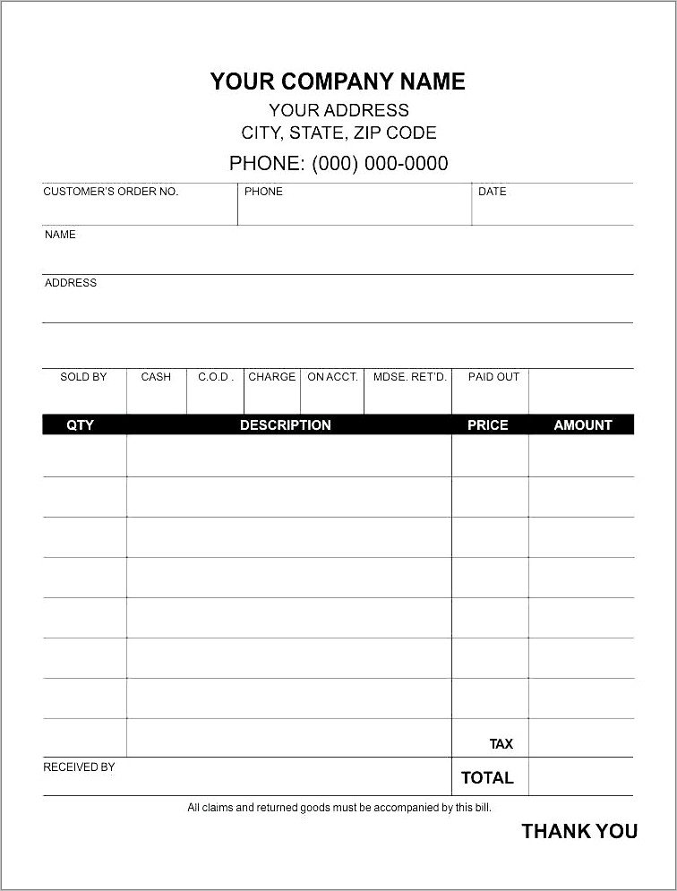 Invoice Template For Apple Pages