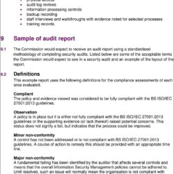 Iso 27001 External Audit Report Sample