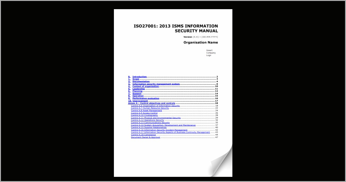 Iso 27001 Sample Documents