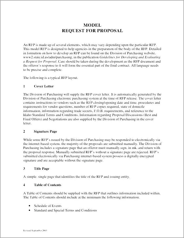 It Outsourcing Rfp Template