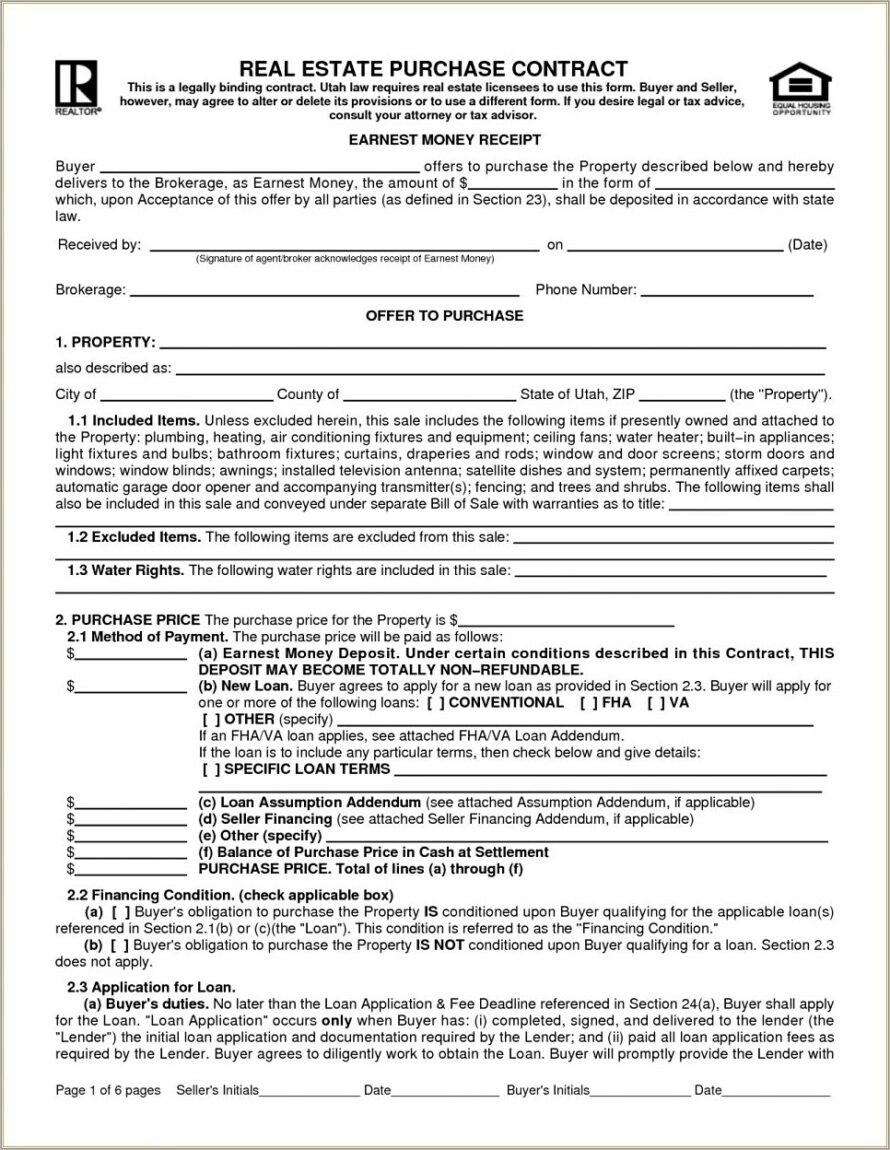 Land Sale Contract Form California