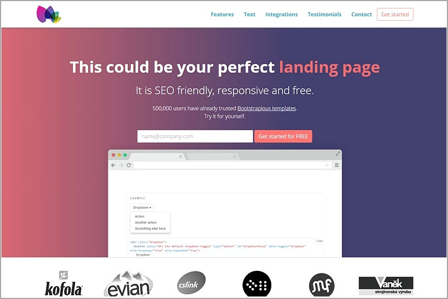 Landing Page Bootstrap Templates