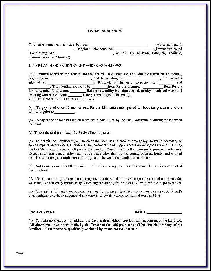 Landlord And Tenant Contract Form Ontario