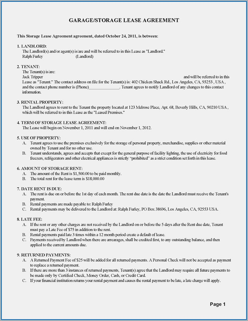 Landlord Tenant Lease Agreement Nyc