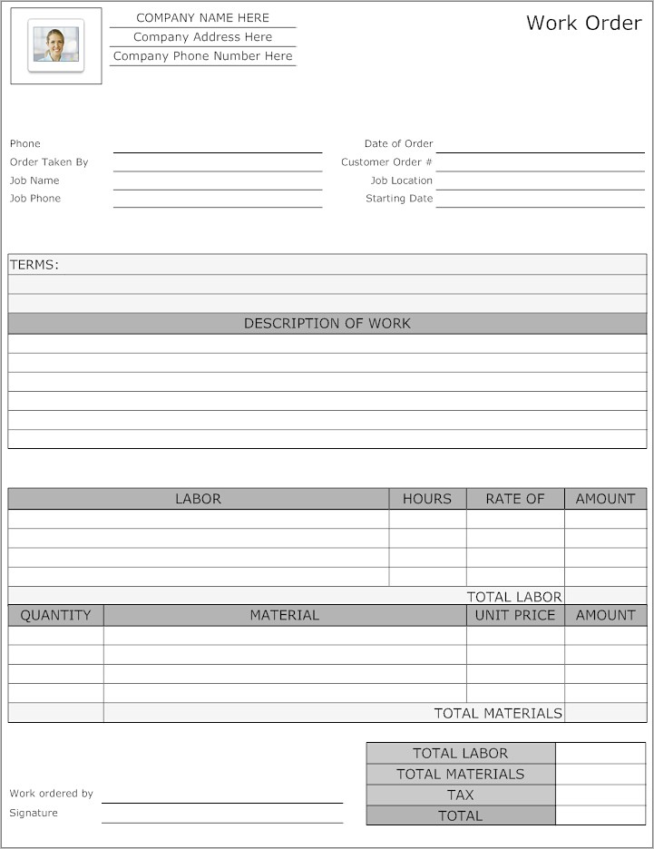 Landscaping Job Application Template