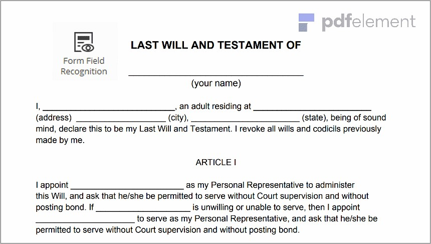 Last Will And Testament Florida Notary