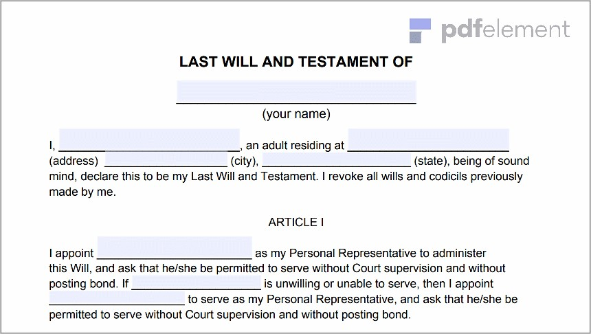 Last Will And Testament Florida Notary (101)