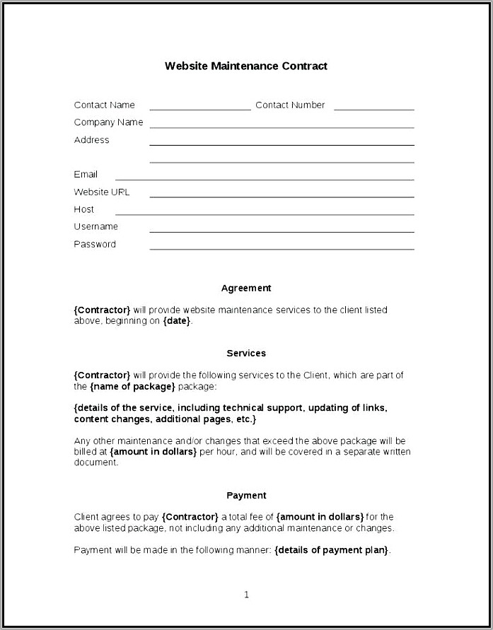 Lawn Mowing Service Agreement Template