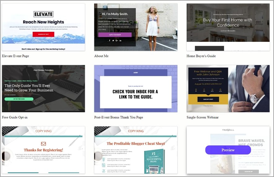 Lead Pages Net Templates