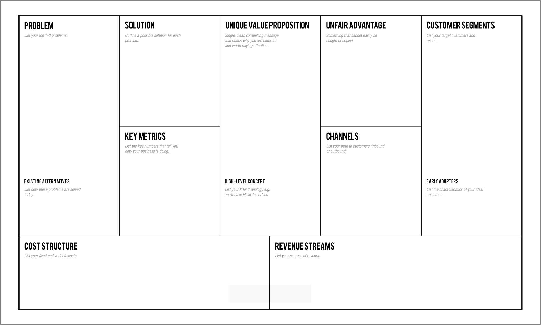 Lean Startup Business Plan Example