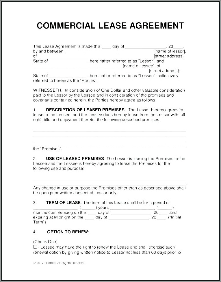 Lease Abstract Template Free