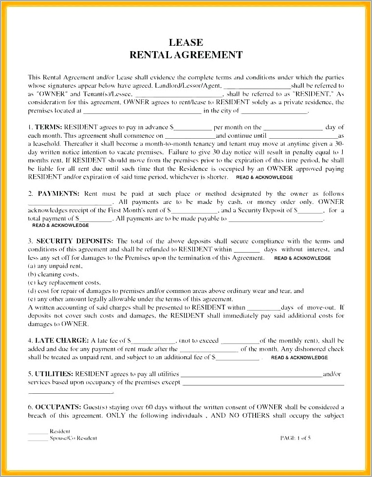 Lease Agreement Example Uk