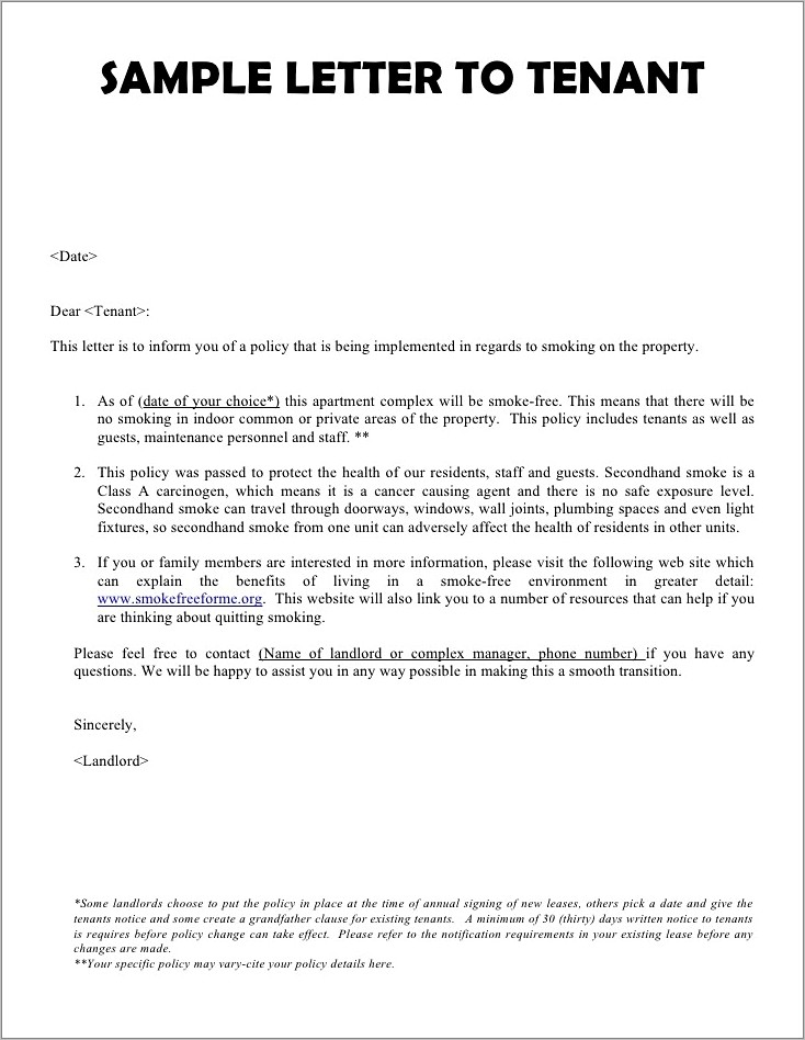 Lease Agreement Termination Letter Format