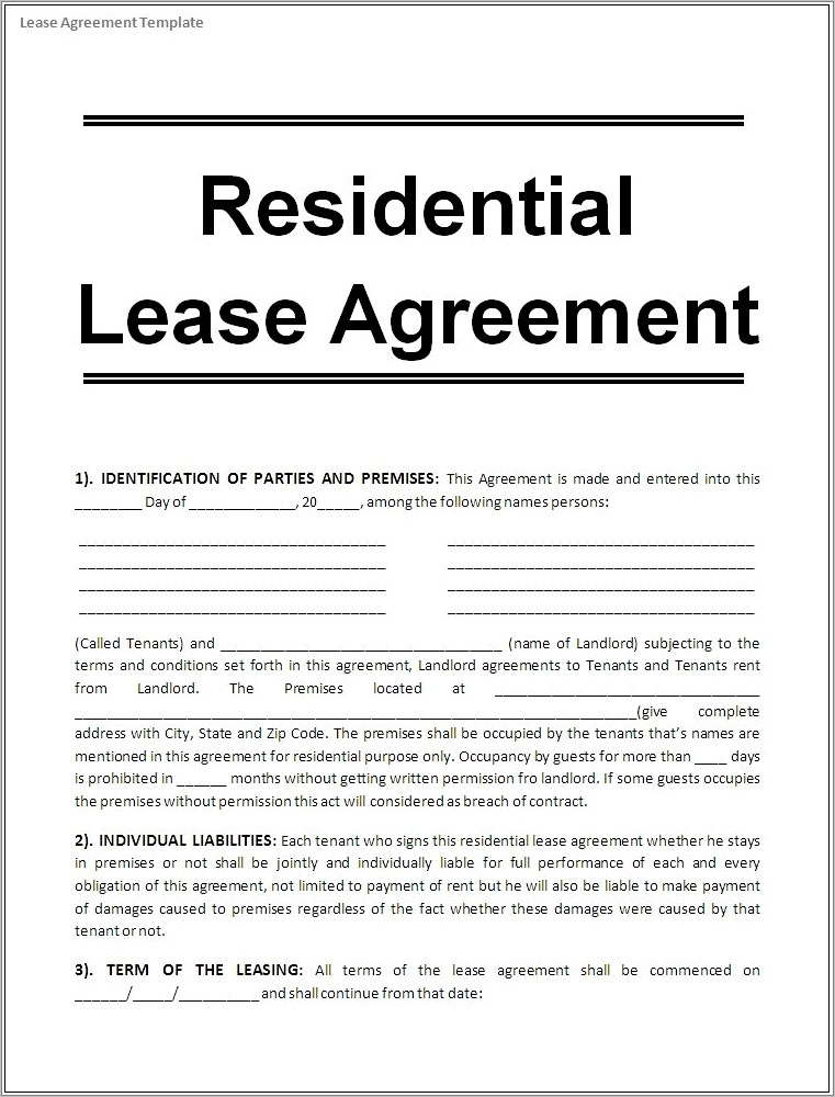 Lease Purchase Agreement Template Free