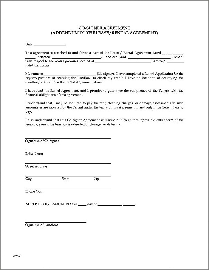 Lease Renewal Contract Template