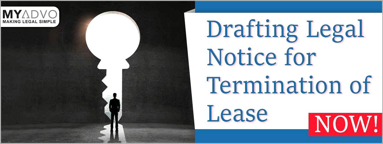 Legal Notice For Termination Of Lease