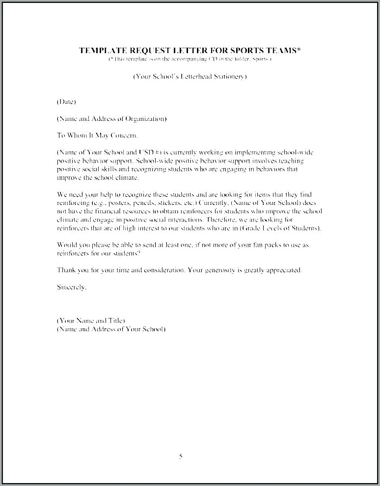Letter Asking For Donations Template Uk