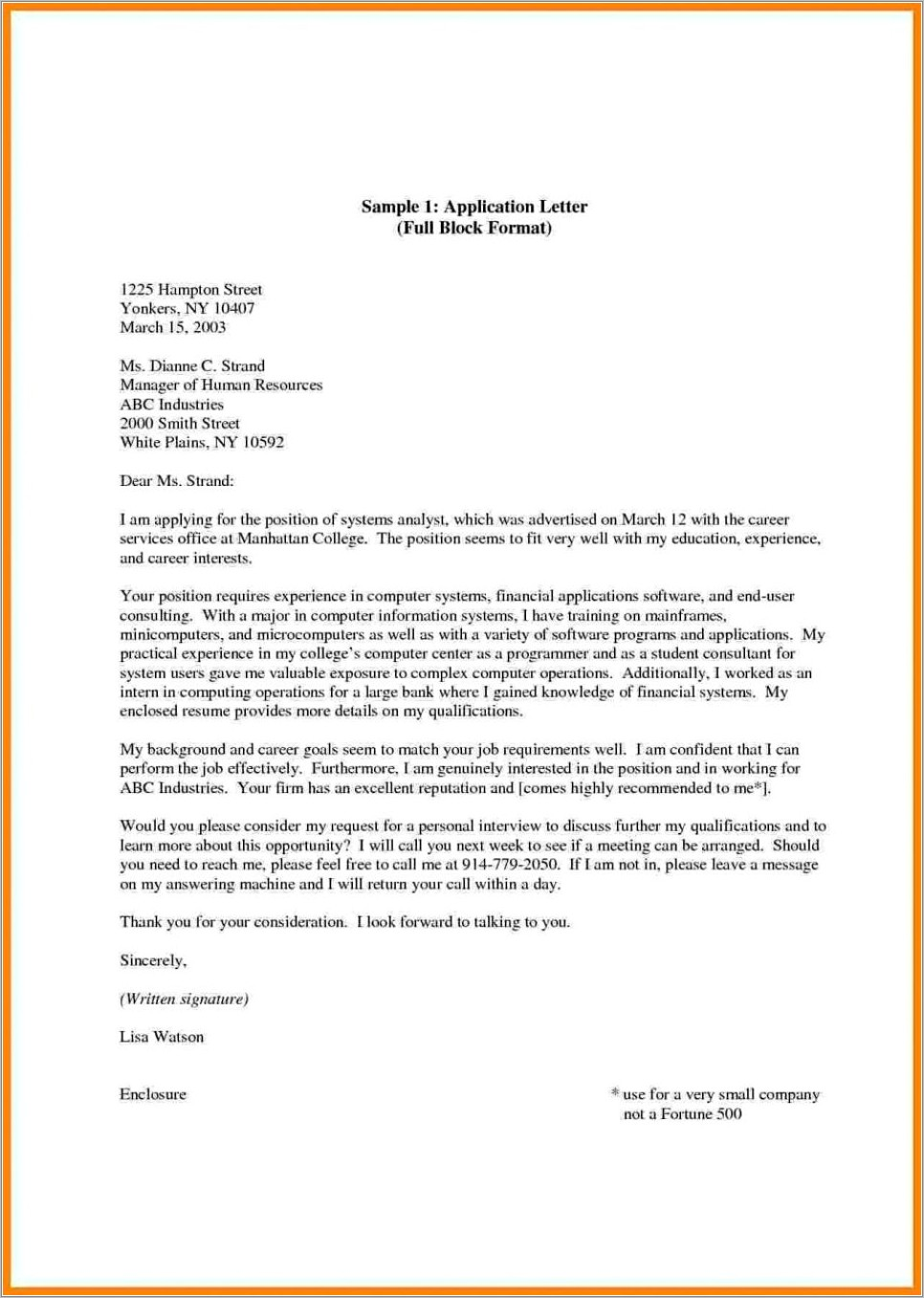 Letter Of Recommendation Template For College Admission