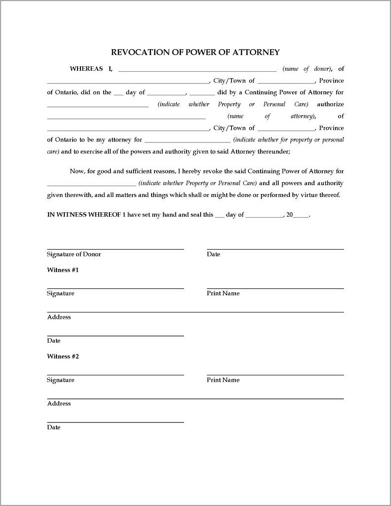 Limited Power Of Attorney Form Real Estate