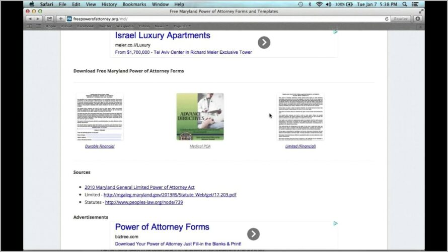 Limited Power Of Attorney Forms Free Download