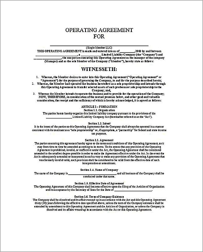 Llc Purchase Agreement Template