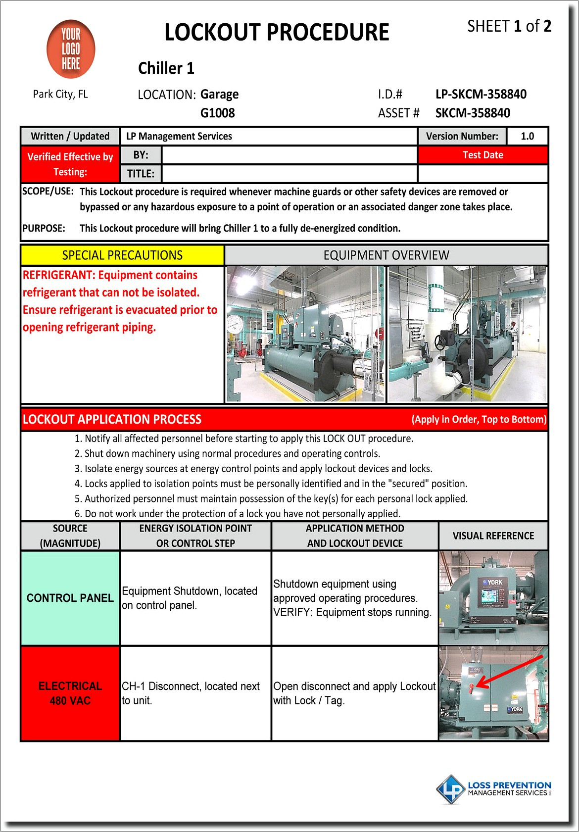 Lockout Tagout Policy Template