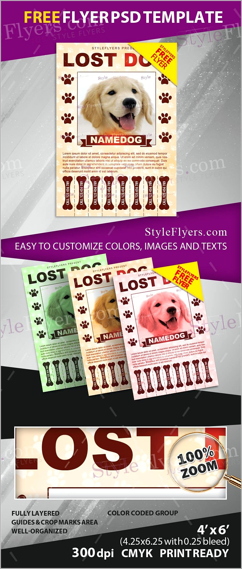 Lost Dog Template Free