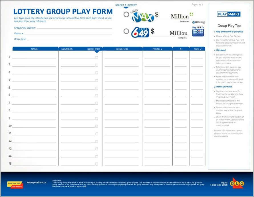 Lottery Syndicate Contract Template
