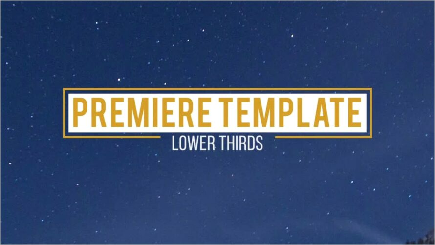 Lower Third Templates Premiere Free