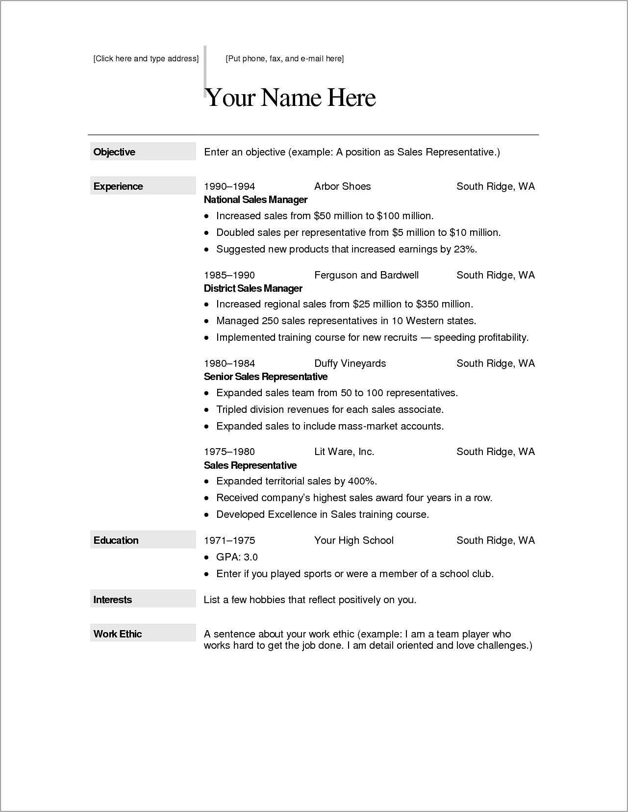 Mac Resume Templates For Pages