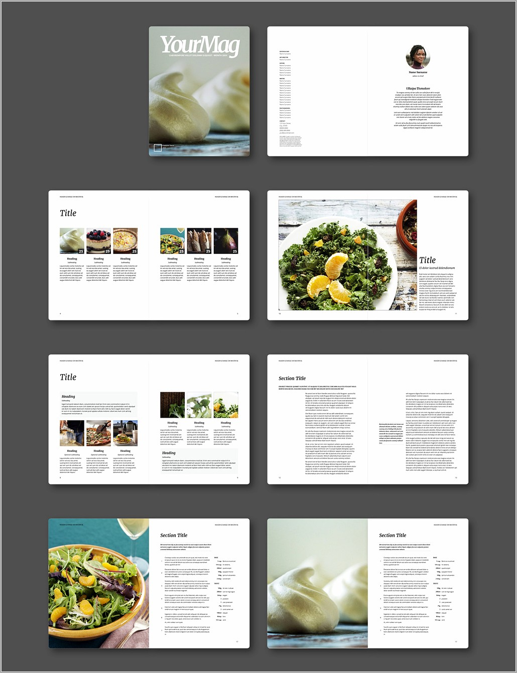 Magazine Layout Template Indesign Free Download