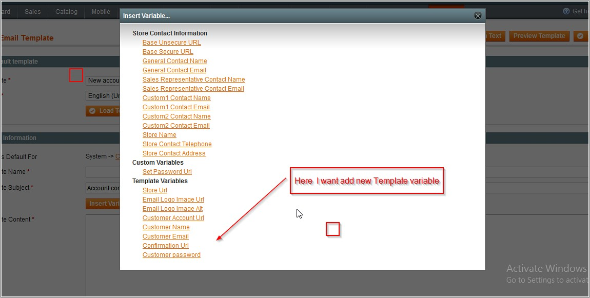 Magento Custom Email Template Variables