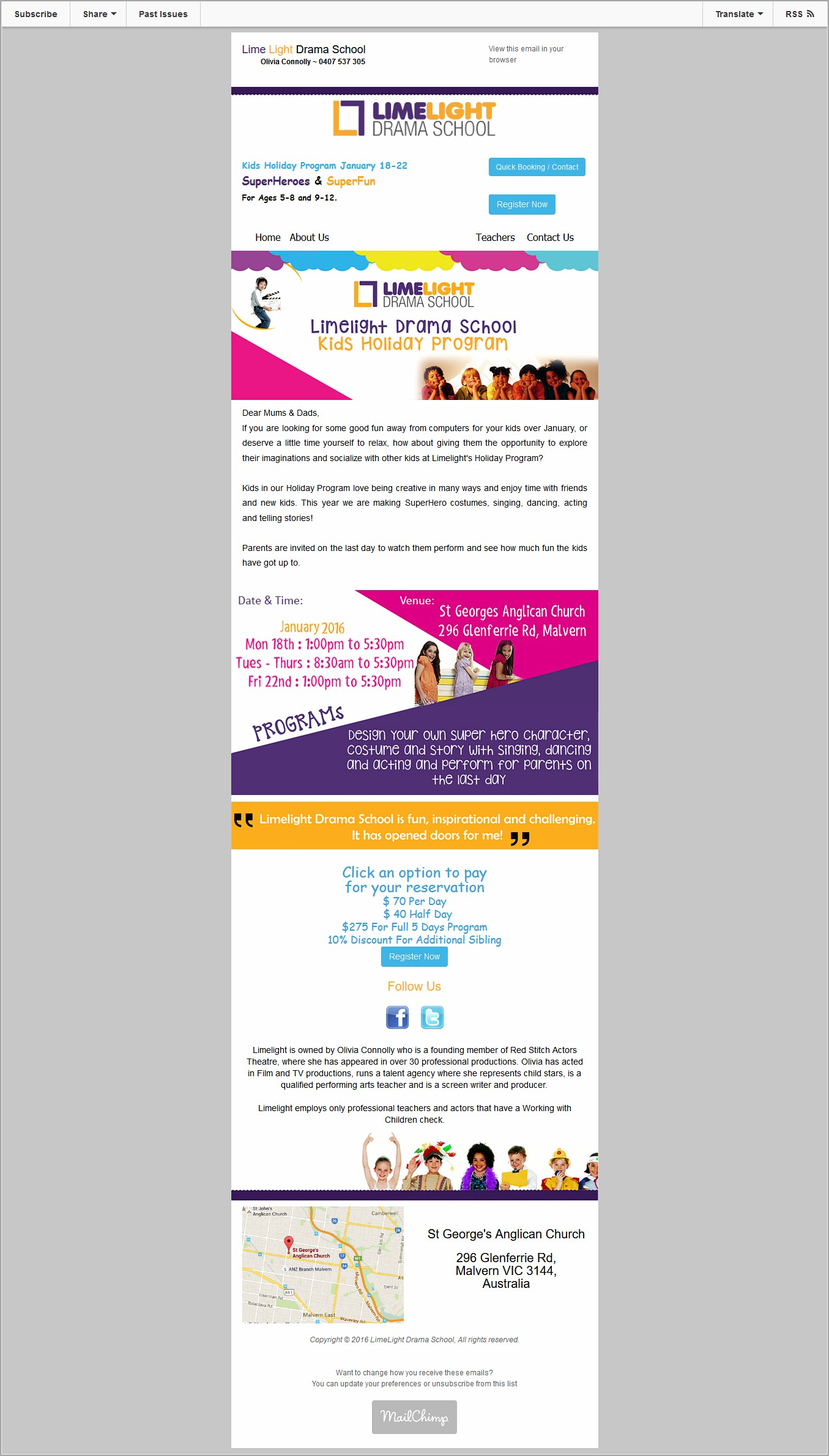 Mailchimp Email Template Images