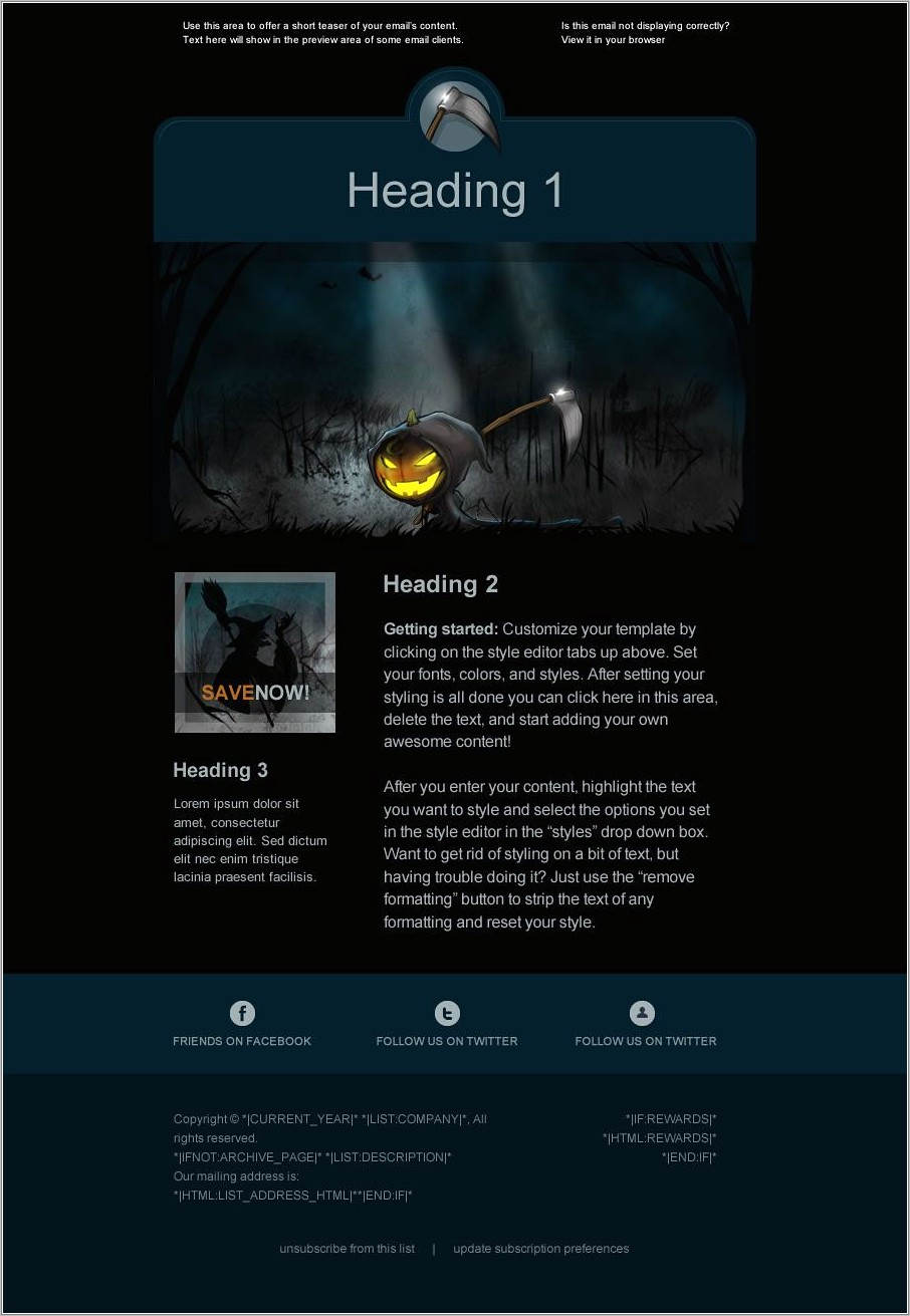 Mailchimp Free Email Template