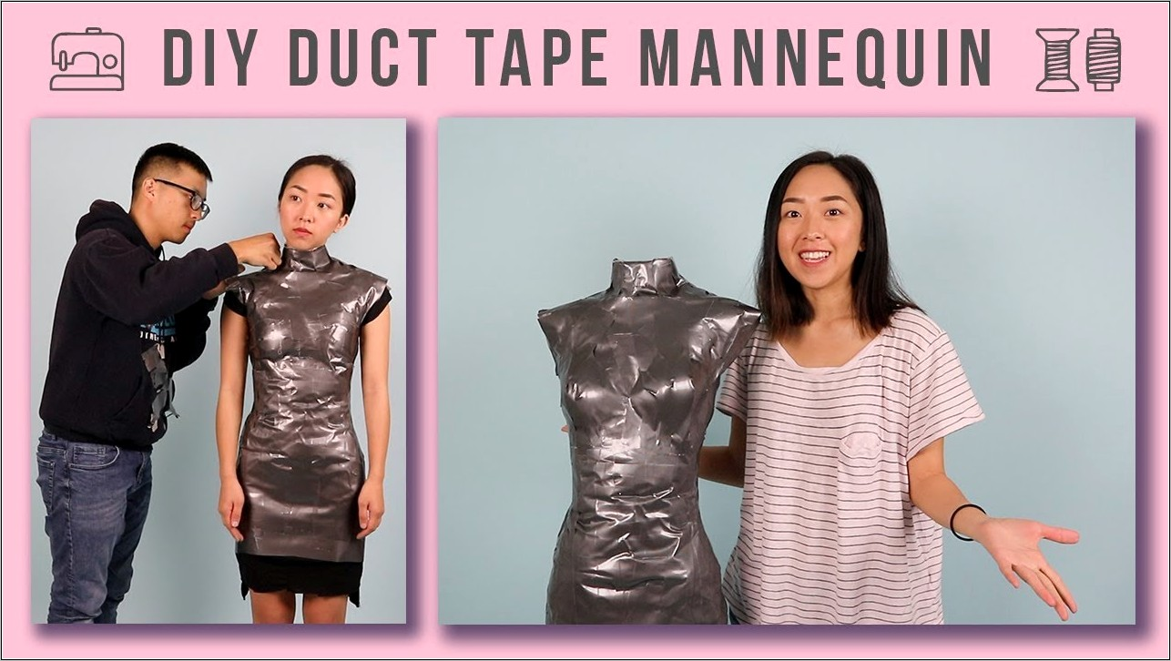 Making Dress Form Out Of Duct Tape