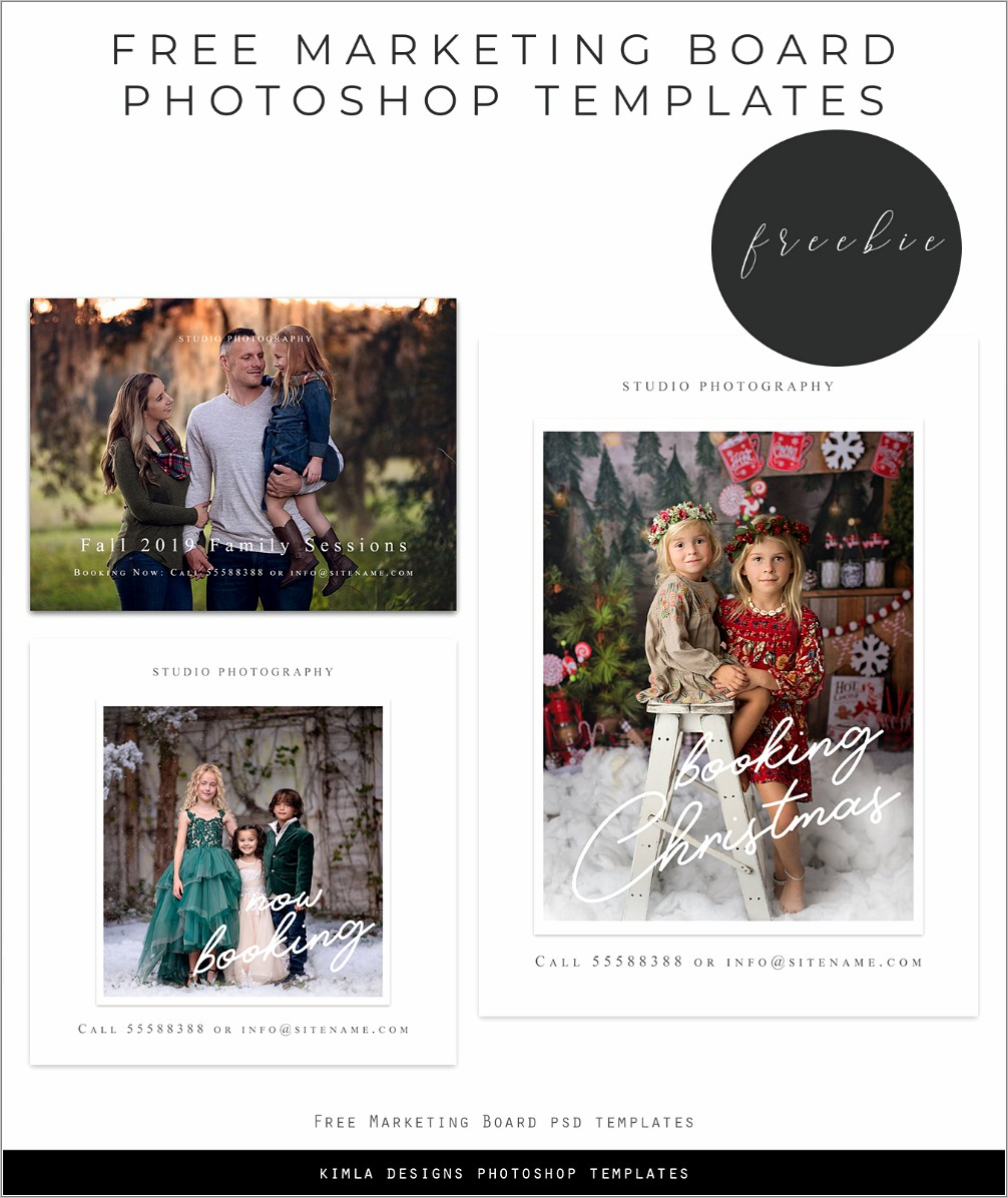 Marketing Board Templates For Photographers