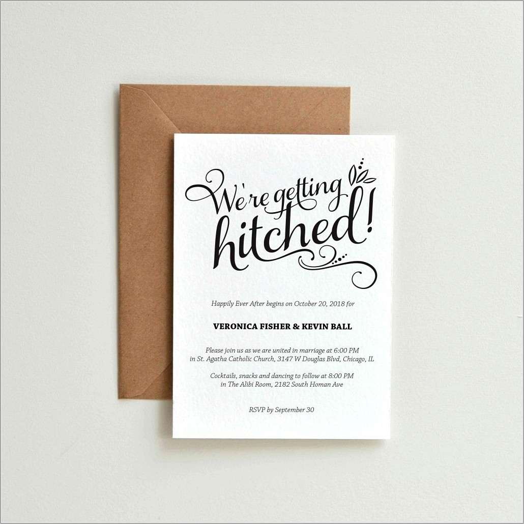 Marriage Invitation Wording For Friends Card