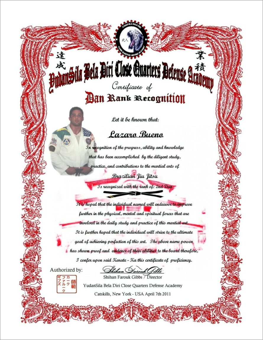 Martial Arts Grading Certificate Template